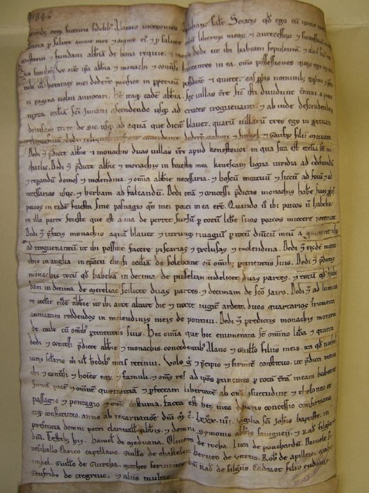 Deed of foundation of the abbey