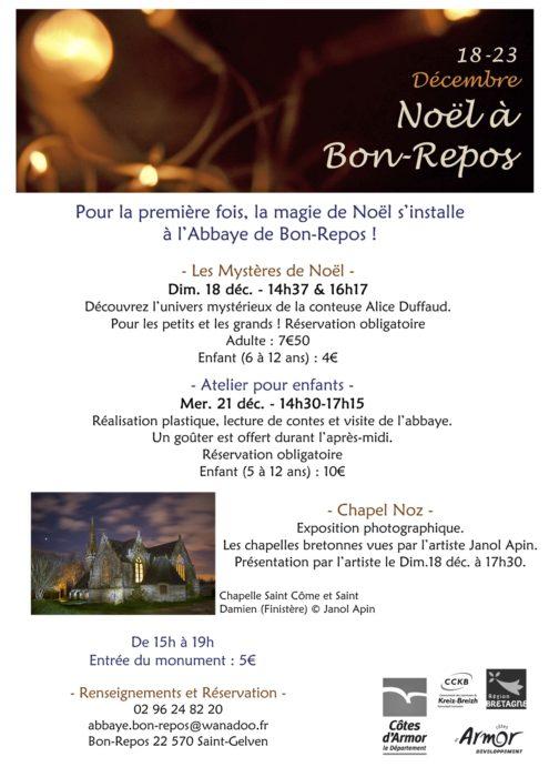 Affiche Noël à Bon-Repos 2016
