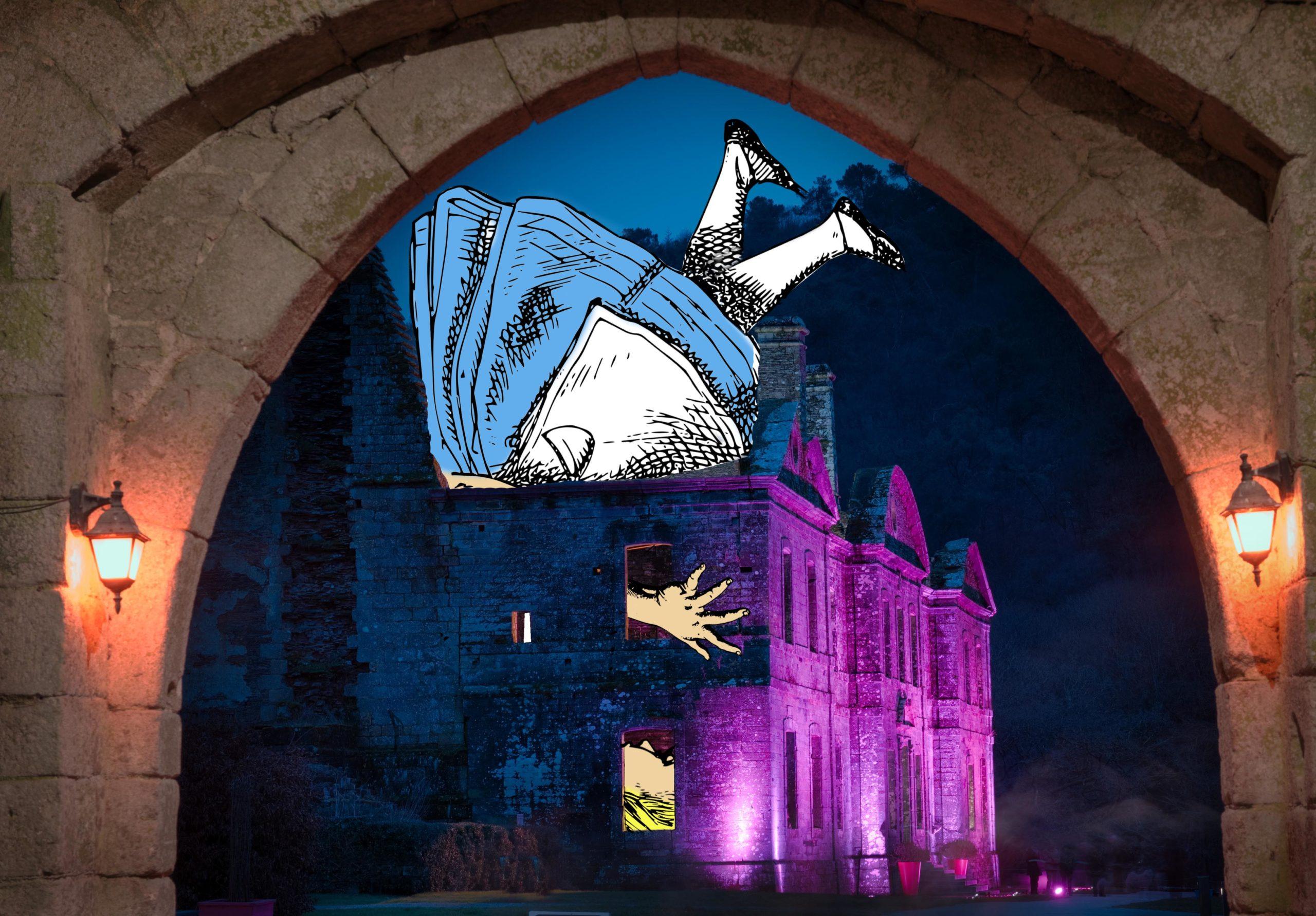 La tête dans l'abbaye