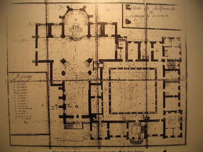 Plan of Bon-Repos Abbey