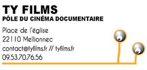 Carte de visite Ty Films, pôle du cinéma documentaire à Mellionnec